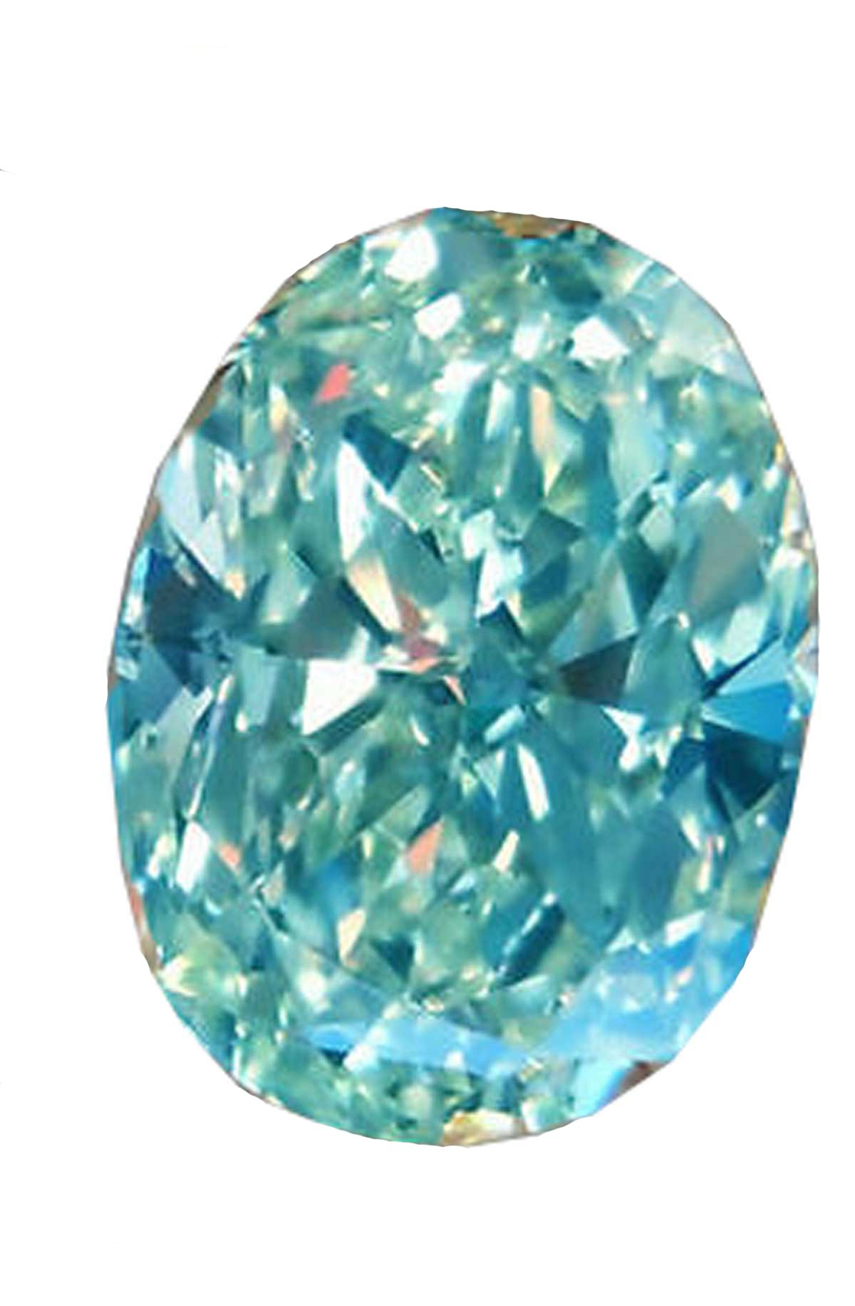 RINGJEWEL 12.7 Ct VS1 Oval Cut Real Loose Moissanite Use 4 Pendant/Ring Blueish Green Color