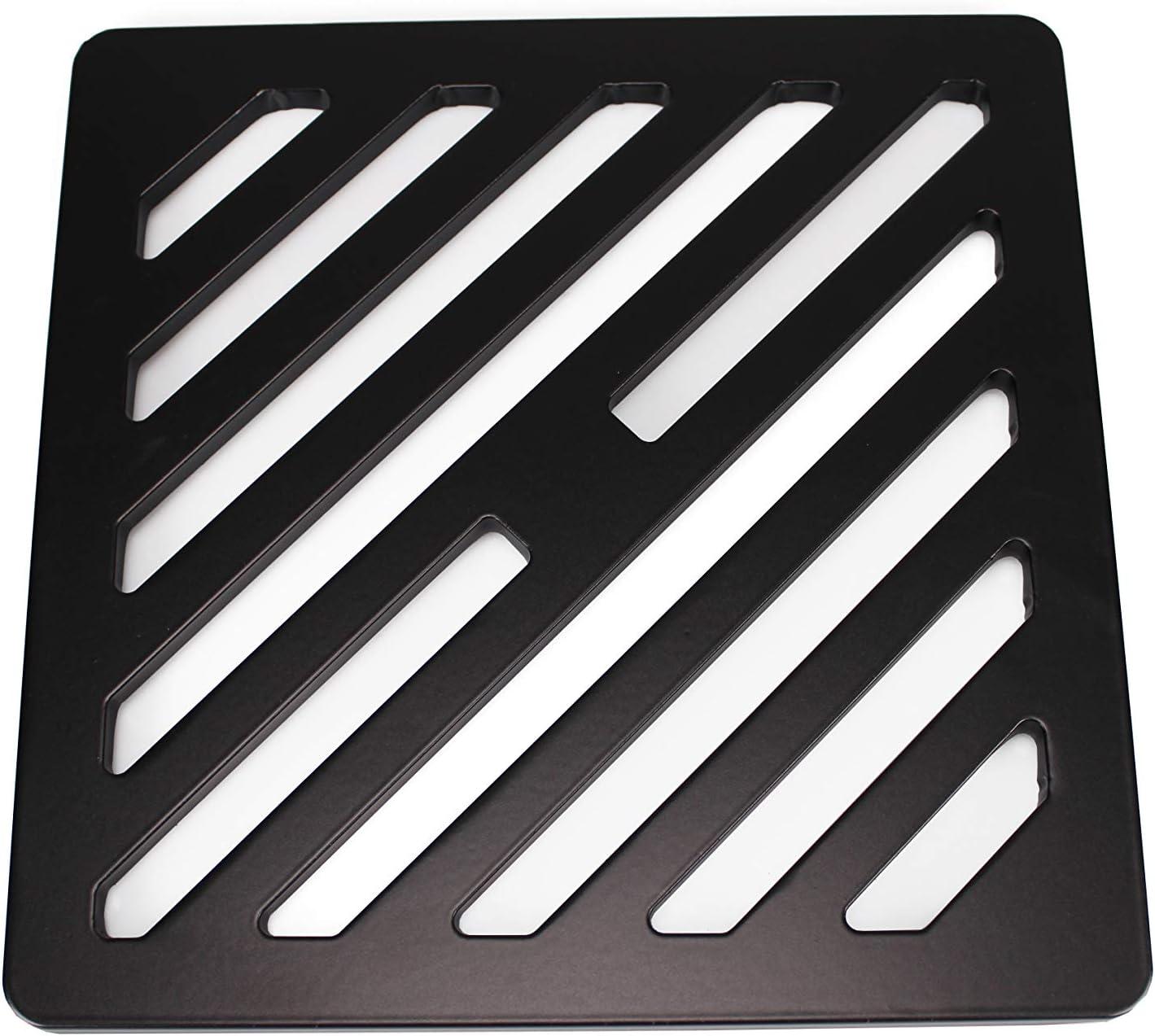 Rejilla de desagüe cuadrada de 150 mm, 15 cm, de metal sólido, con 10 corten de acero resistente como hierro fundido, más fuerte