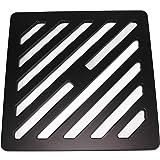 Quadratisches und massives Metallstahl-Ablaufgitter 19 cm strapazierf/ähiges Abdeckungsgitter wie Gusseisen