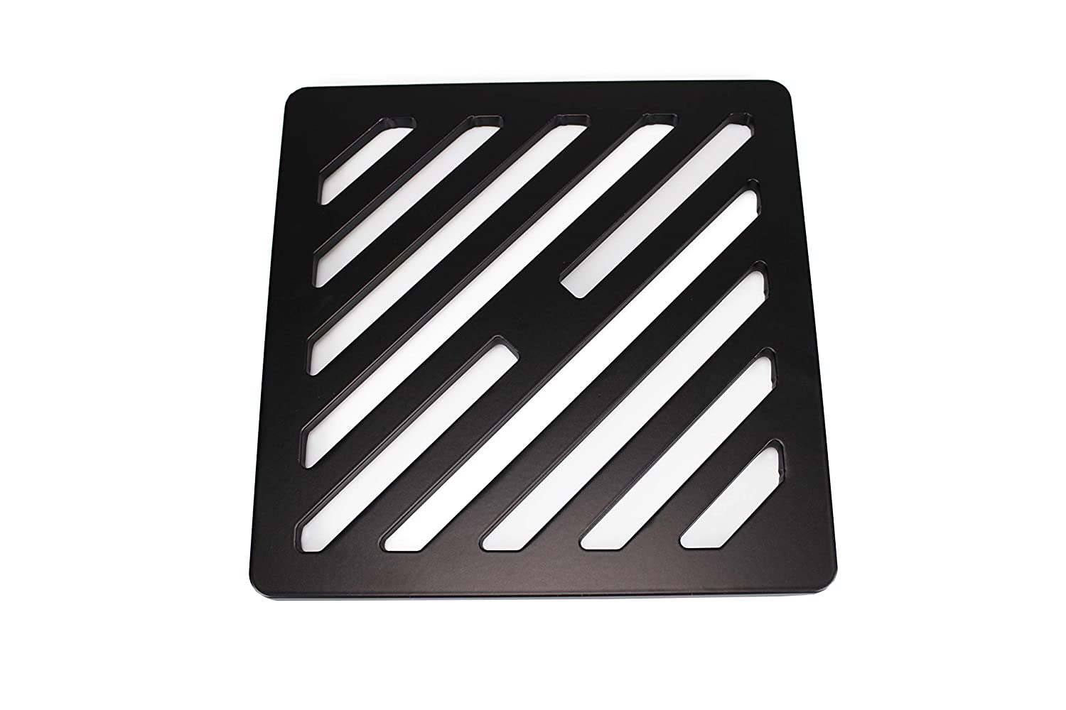 6.5 inch Square Solid Metal Steel Gully Grid Heavy Duty Drain Cover Grate Like cast Iron Stronger