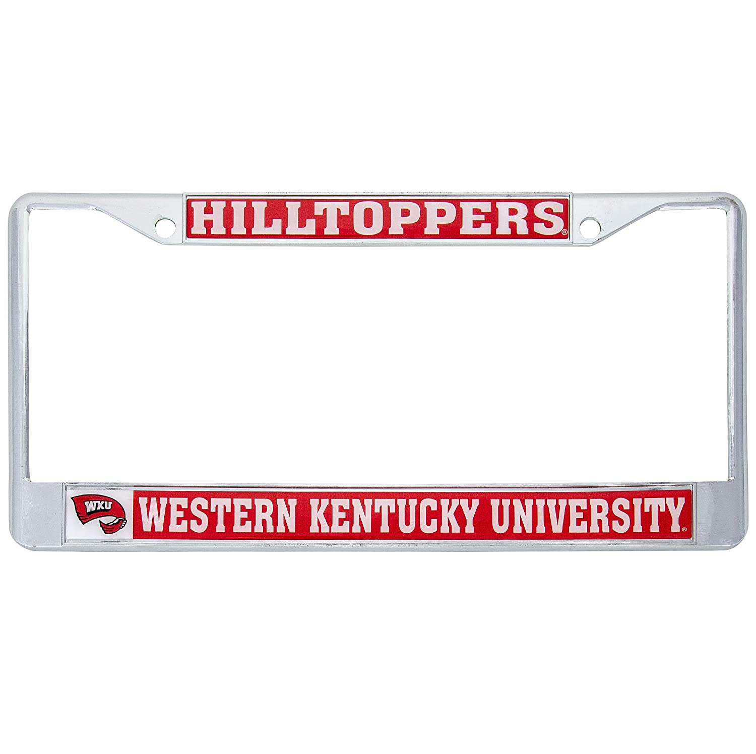 Mascot Western Kentucky University Hilltoppers Metal License Plate Frame for Front Back of Car Officially Licensed