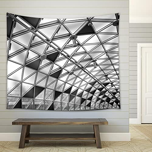 wall26 – Modern Conceptual High Tech Building – Fabric Wall Tapestry Home Decor – 68×80 inches