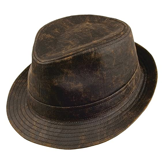 dd03d99b4f3 Jaxon   James Hats Weathered Cotton Trilby - Brown  Amazon.co.uk  Clothing