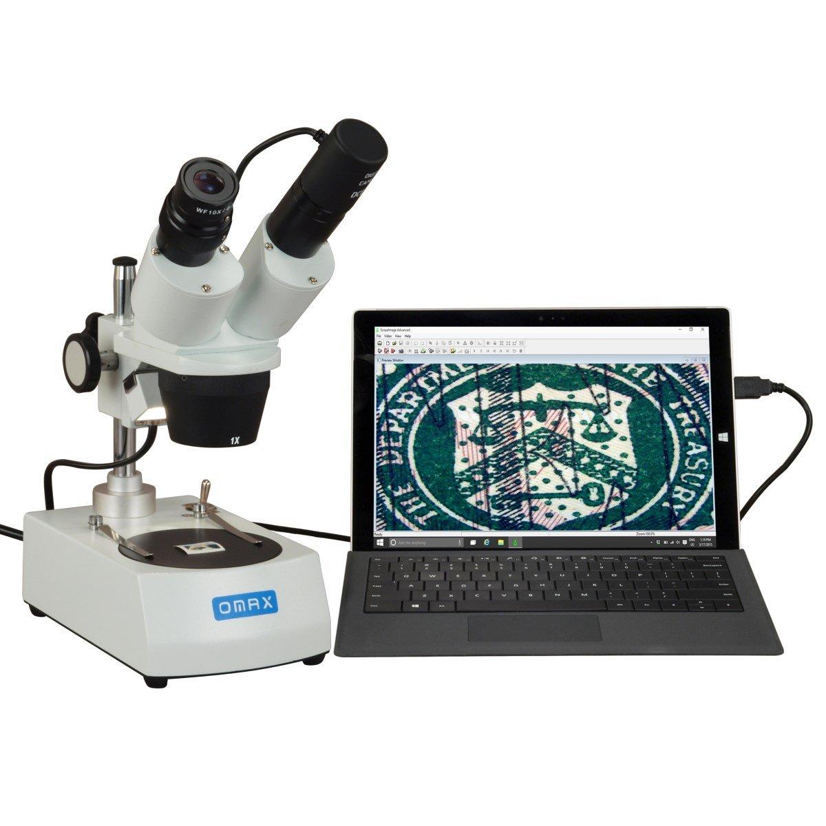 OMAX 10X-20X-30X-60X Binocular Student Stereo Microscope with USB Camera