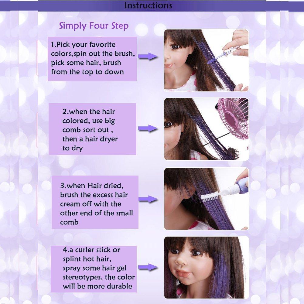 Hair Mascara Molie Professional Disposable Hair Dye Temporary