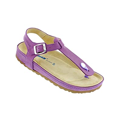 e37d0800e5 Amazon.com | Sanosan Women's Arkansas Thong Sandals in Nubuck Leather - Comfort  Plus | Slides