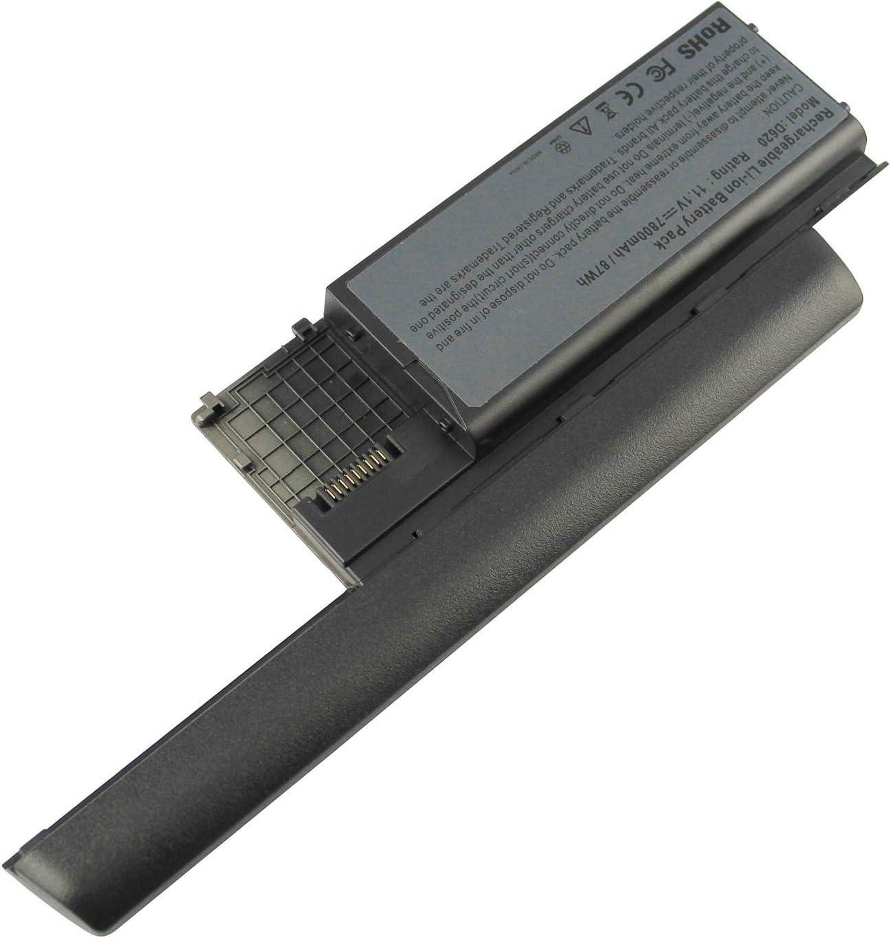 D620 Replacement Laptop Battery for Dell Latitude D630 D630N D631 D631N D830N 312-0383 TC030 310-9080 HX345 11.1V 7800mAh
