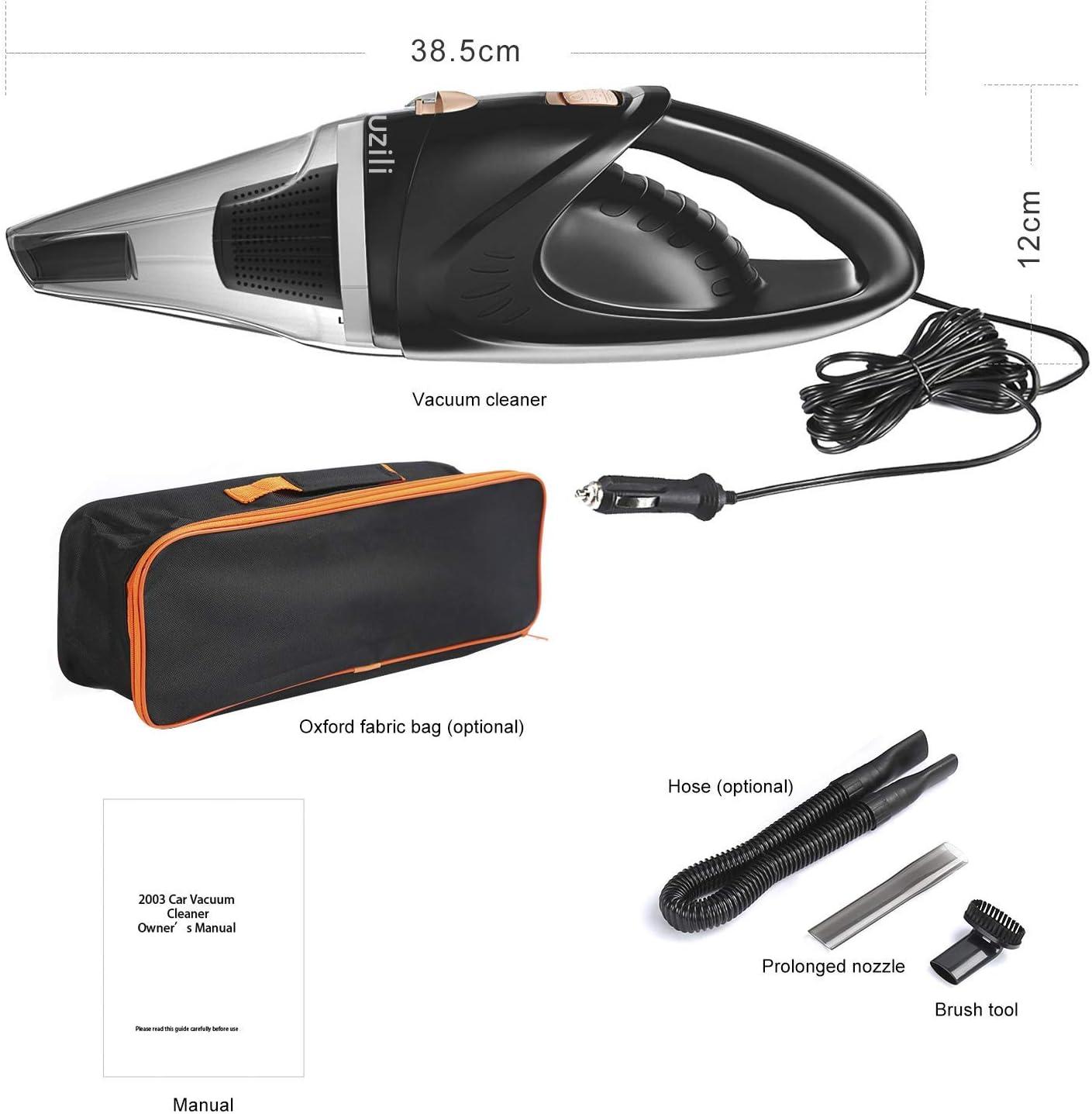 Muzili Powerful Cleaning Lightweight Handheld Corded Car Vacuum