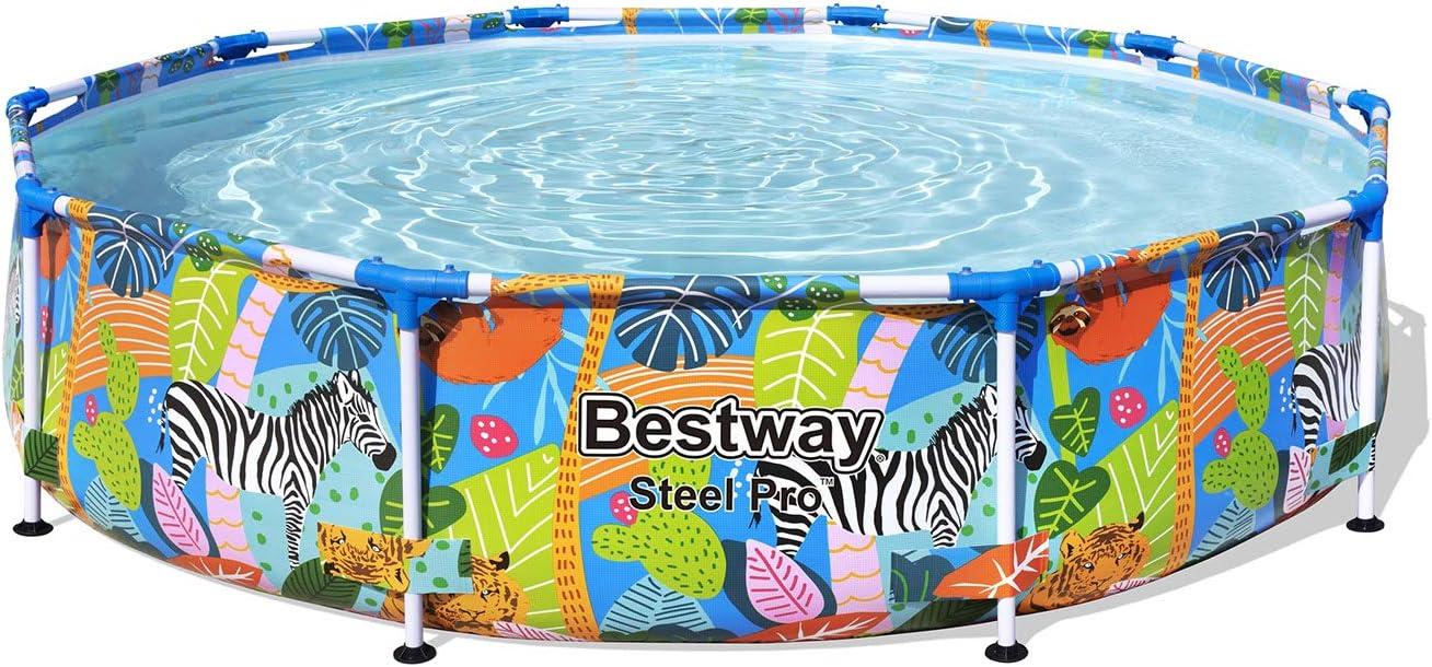 Bestway 56985 - Piscina Desmontable Tubular Infantil Steel Pro 305x66 cm