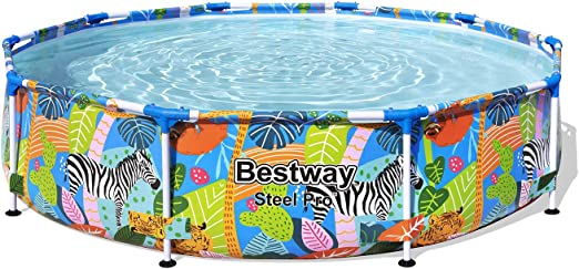 Bestway 56985 - Piscina Desmontable Tubular Infantil Steel Pro 305x66 cm: Amazon.es: Jardín