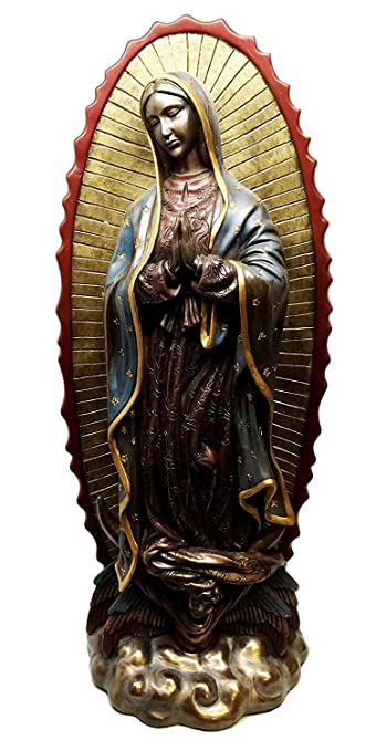 16u0026quot;H OUR LADY OF GUADALUPE STATUE CATHOLIC DECORATION FIGURINE VIRGIN  MARY