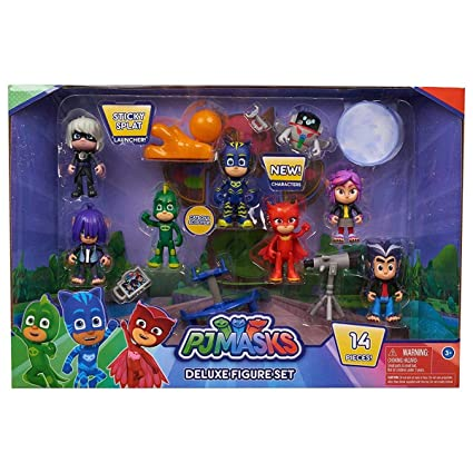 Pj Masks Deluxe Figure Set 2018 Flair Leisure Products Amazonco