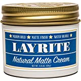 Layrite Natural Matte Cream, Basic, White, Mild Cream Soda, 4.25 Oz
