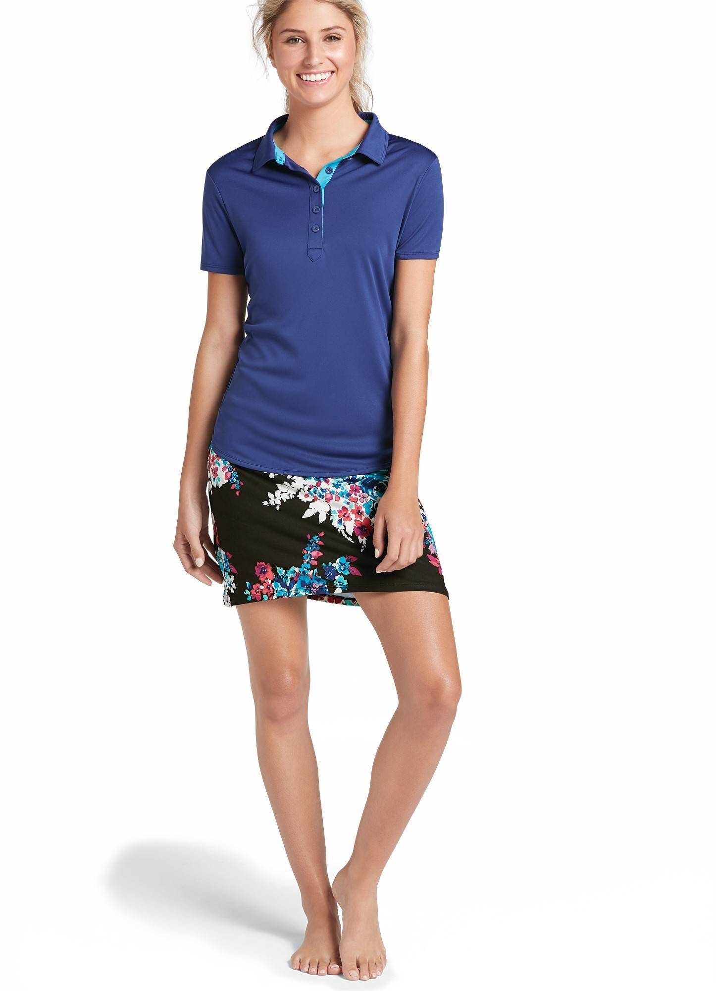 Jockey Women's Activewear Women's Performance Polo, Egyptian Blue, L