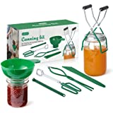 AIEVE Canning Kit Canning Supplies Include Canning Funnel, Jar Lifter, Jar Wrench, Lid Lifter, Canning Tongs, Bubble…