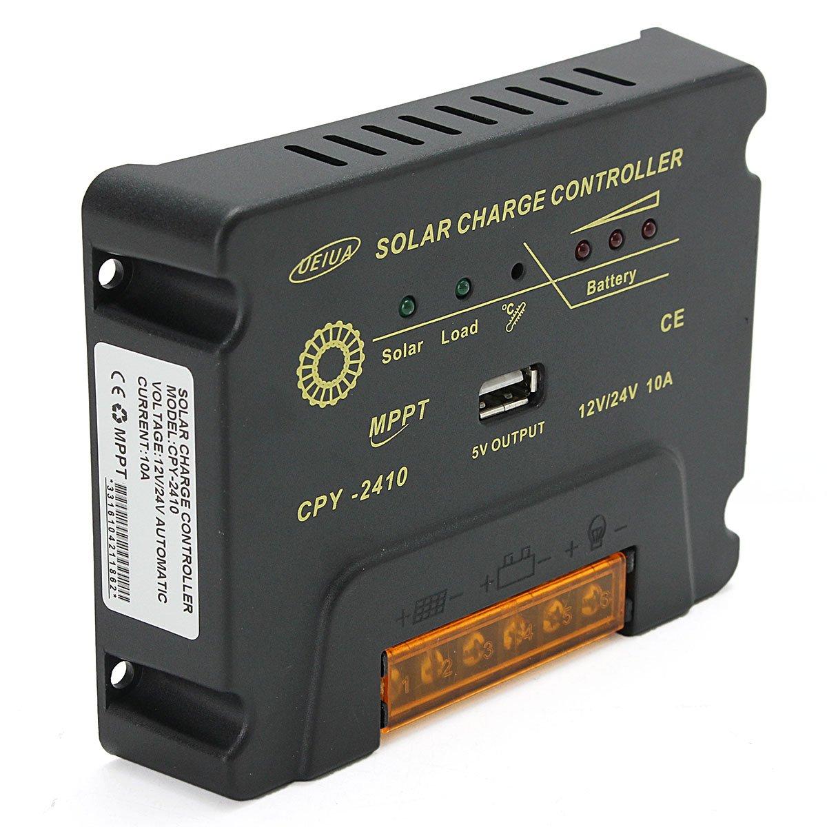 CPY-2410 12V/24V 10A USB MPPT Solar Panel Battery Charge Controller