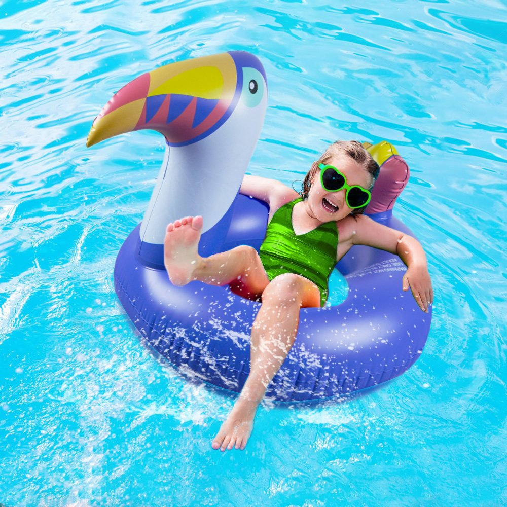 HANMUN Giant Toucan Inflatable Pool Float,2018 Summer Swim Ring Lounger Inflatable Float Ride-On Floaties Party Toys for Kids Adults /¡/