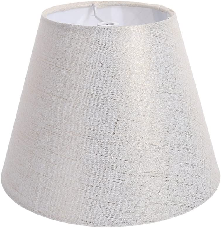 VOSAREA Natural Linen Clip On Lamp Shades Vintage Chandelier Lamp Shade