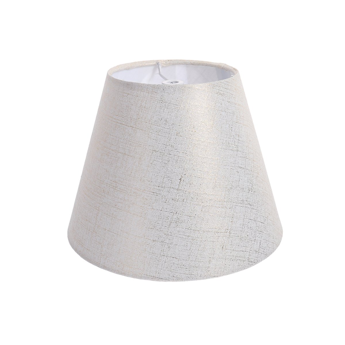 VORCOOL Natural Linen Clip On Lamp Shades Vintage Chandelier Lamp Shades for Hotel Restaurant Home