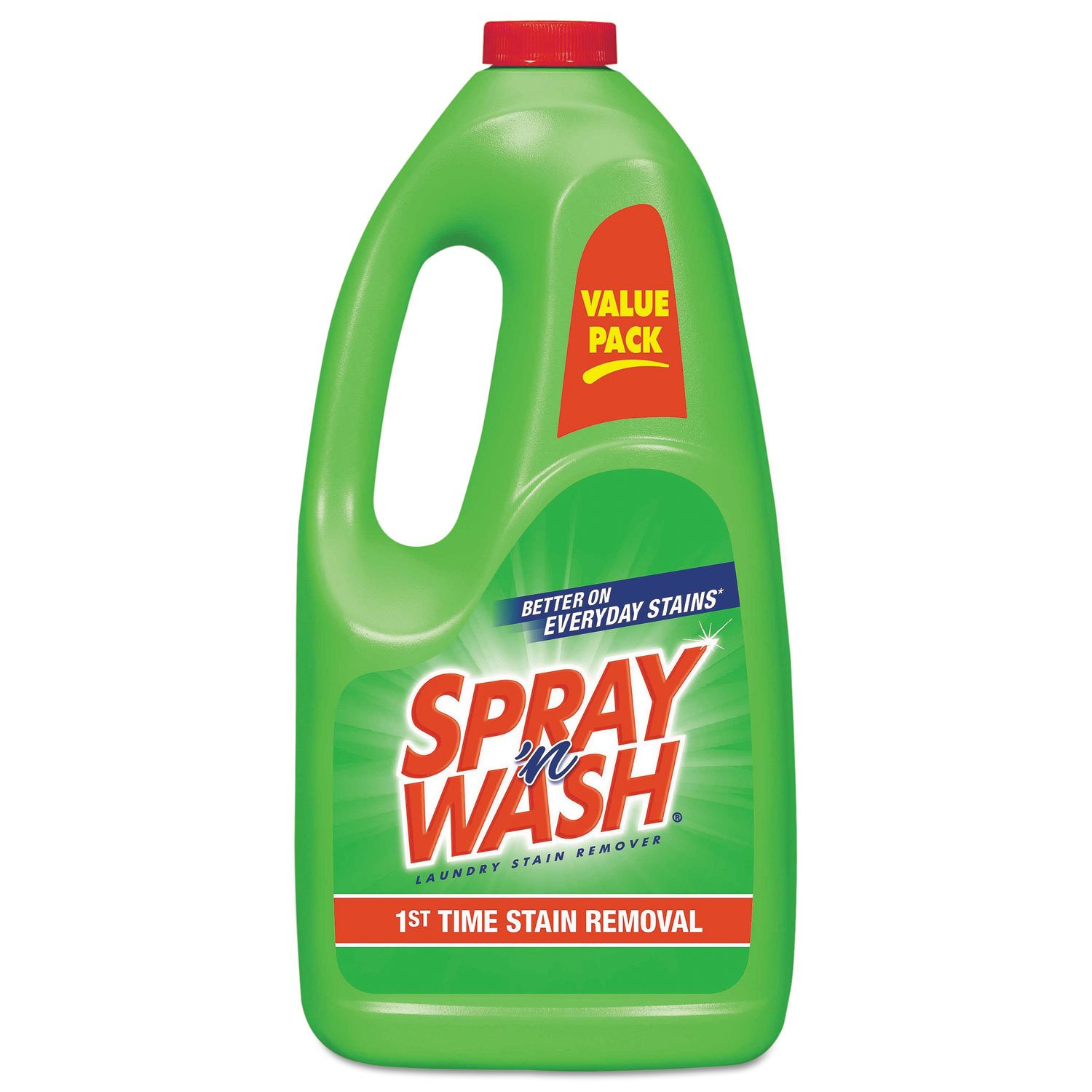 Spray 'n Wash Pre-Treat Laundry Stain Remover Refill, 60 fl oz Bottle (Pack of 6)