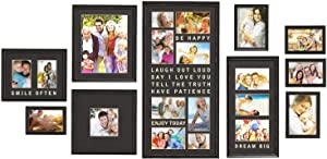 Jerry & Maggie - Luxury Typography Sets | Photo Frame | Wall Decor Bar - Wall Decor Combination - Gold Black PVC Picture Large Frame Selfie Gallery Collage Wall Hanging System - Wall Mounting Design
