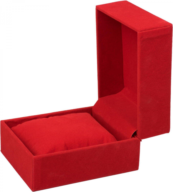 ciondoli Colore:Rosso styleBREAKER Scatola Regalo in Velluto per Gioielli Catene o bracciali da Sollevare Box Regalo 05050025