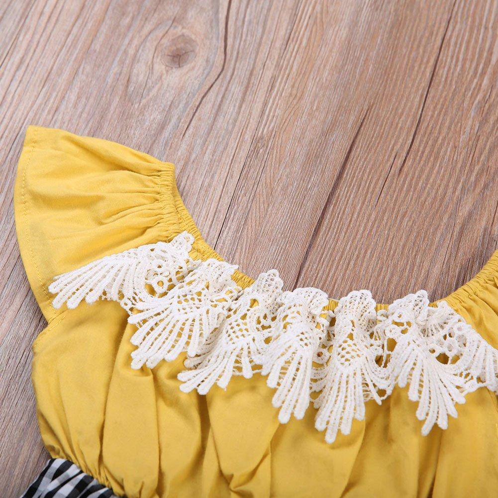1ec0496e2a37 GRNSHTS Baby Girls Lace Plaid Patchwork Off Shoulder Romper (80 6-12  Months