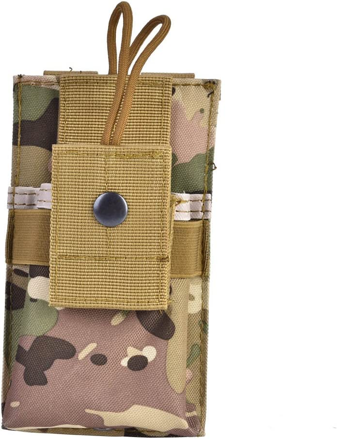 Radio Pouch Adjustable Lightweight Nylon Military Tactical Camouflage Two Way Radios Storage Bag for Molle System