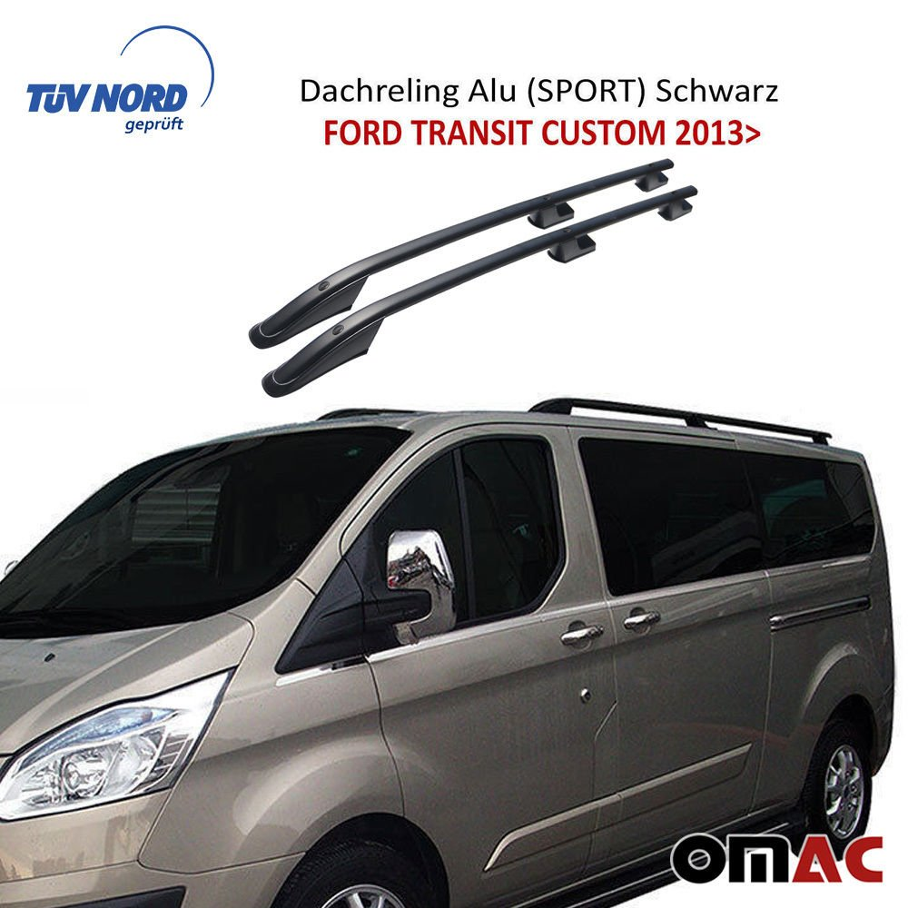 Für FORD Connect 2014 Dachreling Dachträger Grau Alu Kurzer Radstand TÜV ABE