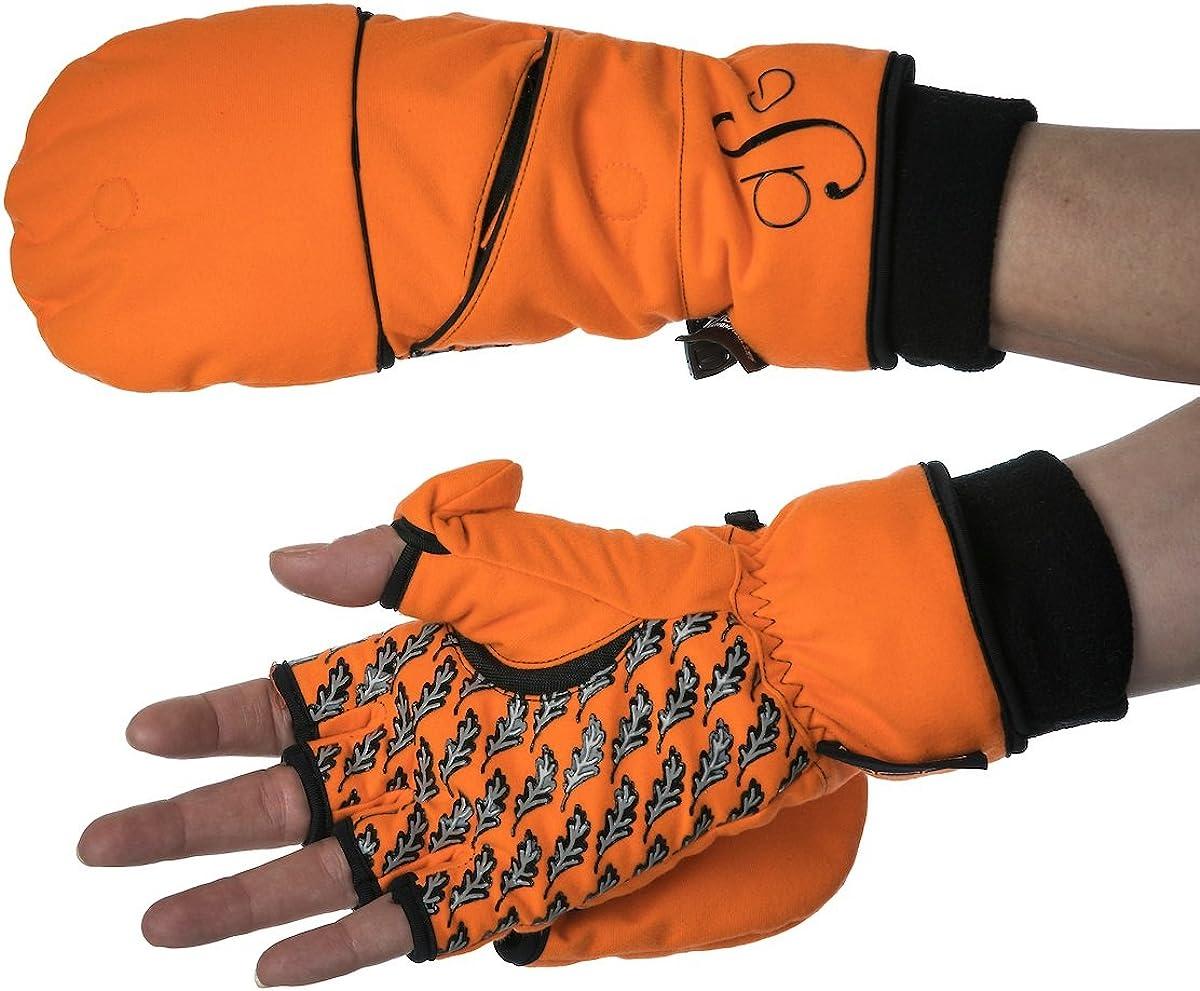 Flip Top Hunting Glove Mitten for Women Blaze Orange DSG Outerwear