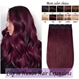 Clip in Remy Human Hair Extensions One Piece 5