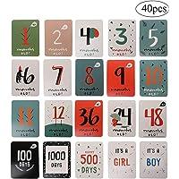 Milestone Baby Cards WENTS 40 Tarjetas de Fotos