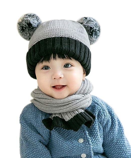 Amazon.com: Gorro de invierno cálido para bebé de 1 a 2 años ...