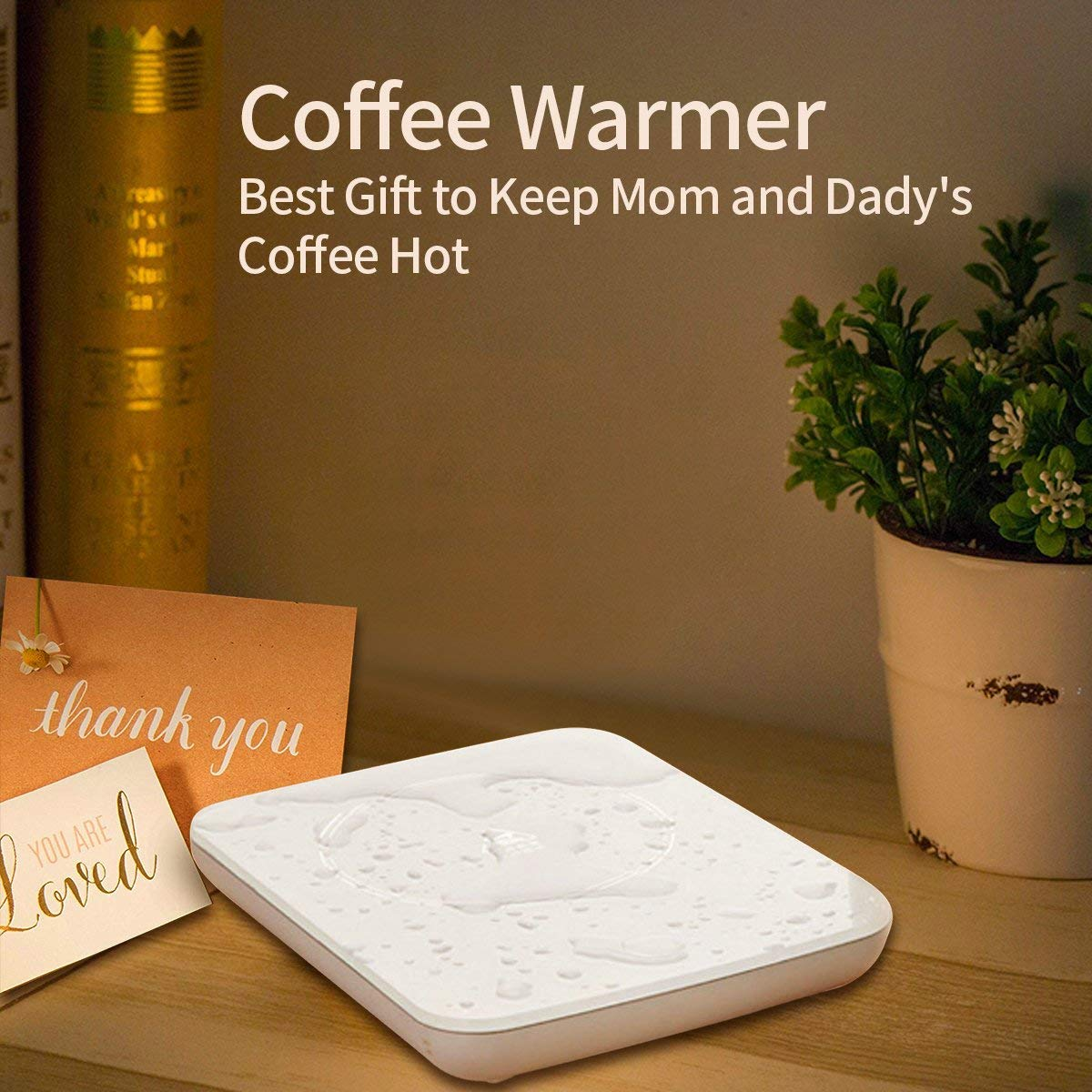 Mug Warmer Coffee Cup Warmer for Desk Auto Shut Off Electric Candle Warmer Hot Coffee Plate Accessories for Tea Beverage Cocoa Milk and Best Gift for Coffee Lovers