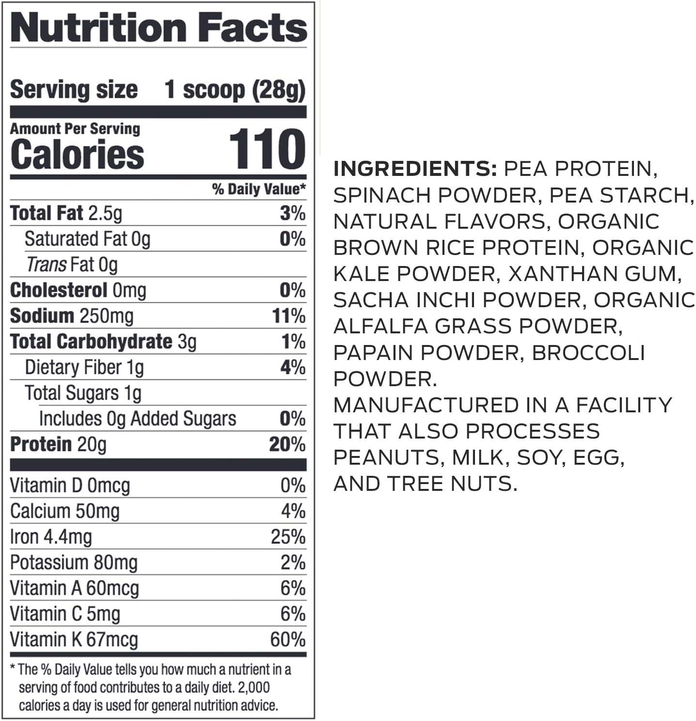 Vega Protein & Greens Natural - 586 gr