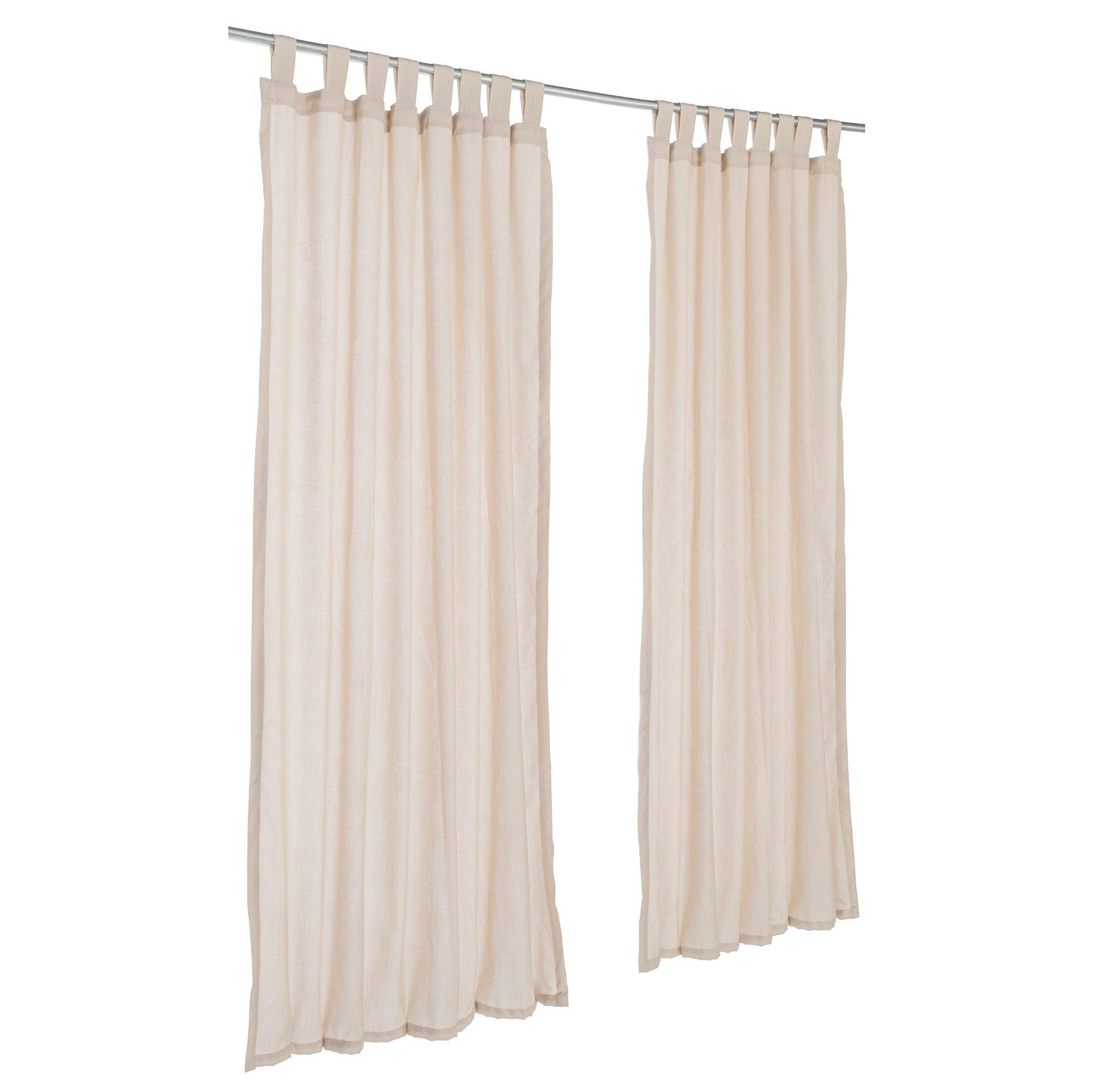 Pawleys Island Sunbrella Outdoor Gazebo Tabbed Sheer Curtain Panel Shadow Wren 50'' x 96''