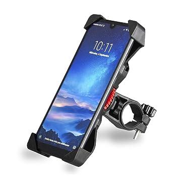 lunmind Soporte Móvil Universal Antivibración Manillar Bicicleta y Motocicleta. Base Smartphone Ajustable Antideslizante y Rotación 360º para Moto, ...