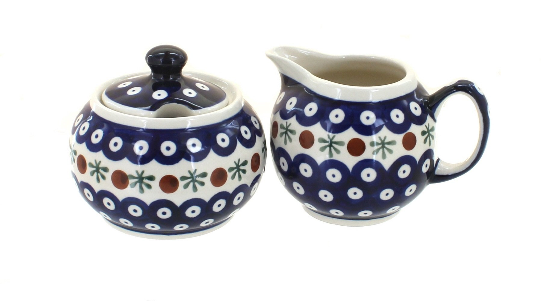Blue Rose Polish Pottery Nature Sugar & Creamer Set by Blue Rose Pottery