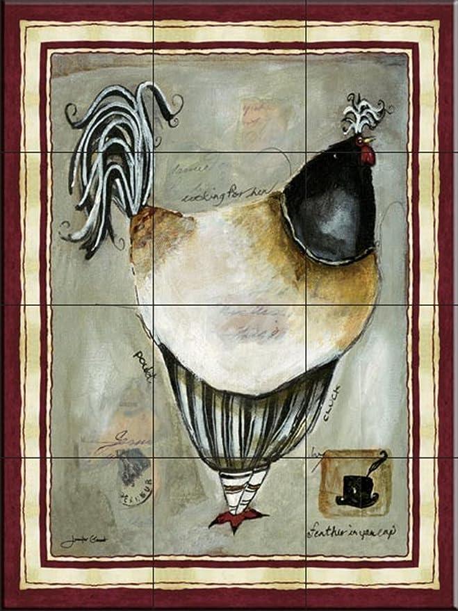 Fliesenwandbild - Französisch Hahn IIII- von Jennifer Garant - Küche ...