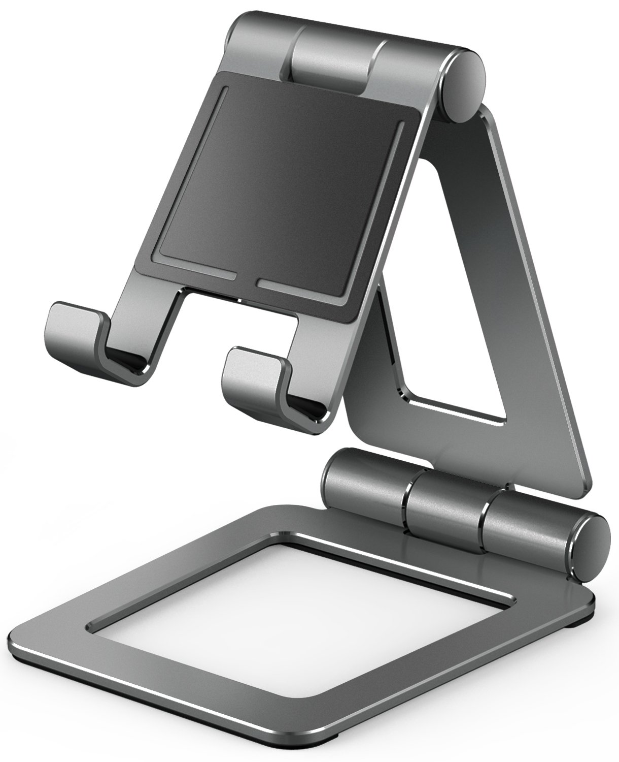 iPad Stand for Tablet Holders Adjustable iPhone Mobile Cell Phone Desk Stands for Nintendo Switch Playstand (A-gray)