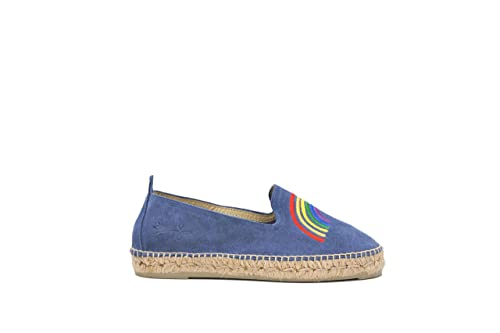 MANEBI Palm Spring, Alpargatas para Niñas, (Jeans + Rainbow D 0.5), 38 EU: Amazon.es: Zapatos y complementos