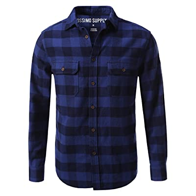 7 Encounter Mossimo Men's Flannel Button Down Shirt