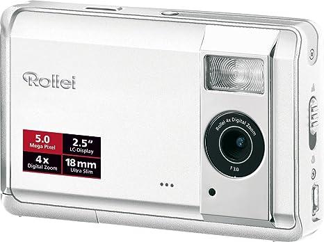 Rollei Compactline 50 Digitalkamera 2 5 Zoll Weiß Kamera