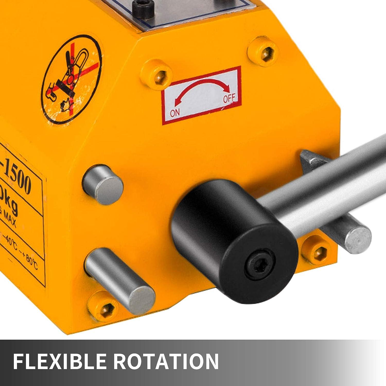 3300Lbs Heavy Duty Magnet Hoist Crane Hoist Lifting Magnet Hoist Crane for Electricity Engineering Transportation Mining VEVOR 1500KG Steel Magnet Magnetic Lifter