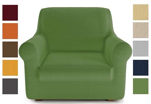 PETTI Artigiani Italiani Verde, Sofa Elasticas, Fundas para Sillones, 100% Made in Italy, Tela Lineal, (80 a 120 cm)