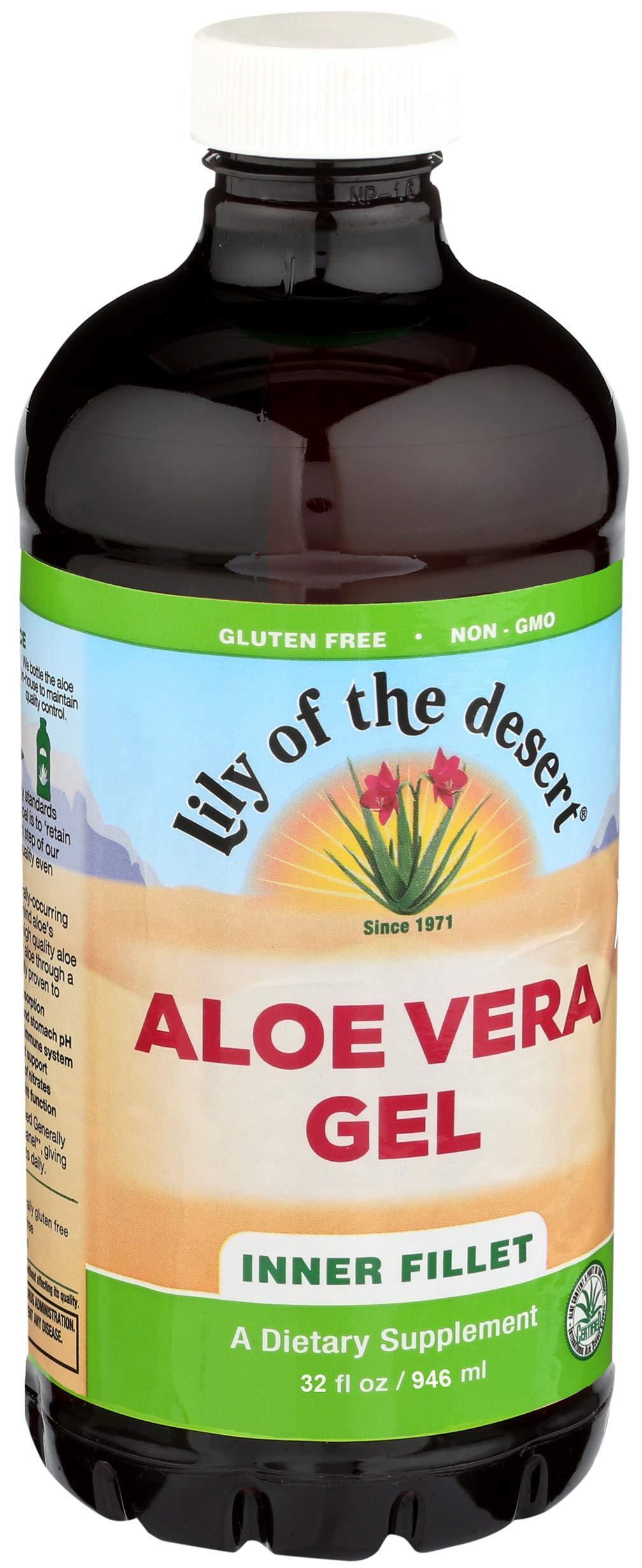 Lily of the Desert Aloe Vera Gel, Inner Fillet, 32 Ounces (Pack of 2)