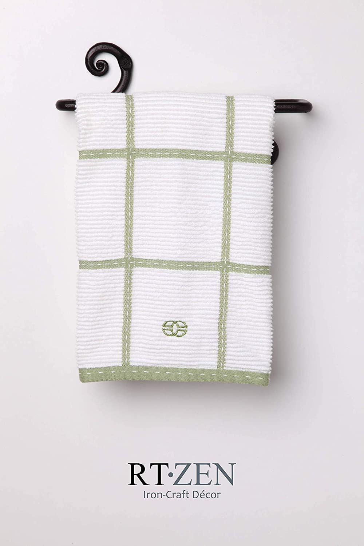 Amazon.com: Hierro Forjado toalla rack titular | Decorative ...