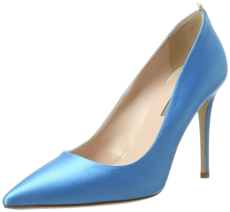 SJP by Sarah Jessica Parker Fawn, Zapatos de Tacón para Mujer 36 EU|Azul (Imp 407 Satin)