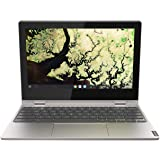 Lenovo Chromebook C340 Celeron N4000 4GB RAM 64GB SSD 11.6-Inch HD Laptop, Platinum Grey, 81TA000AAU