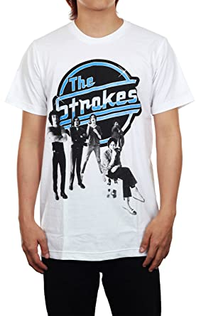 d26da4d4 The Strokes Rock Band New White Rock Music Tee T-Shirt at Amazon Women's  Clothing store: Music Fan T Shirts